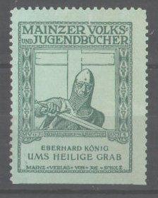 Reklamemarke Mainzer Volks und Jugendbücher, Eberhard König: