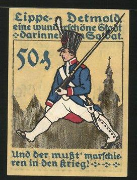 Notgeld Detmold i. Lippe, 1920, 50 Pfennig,