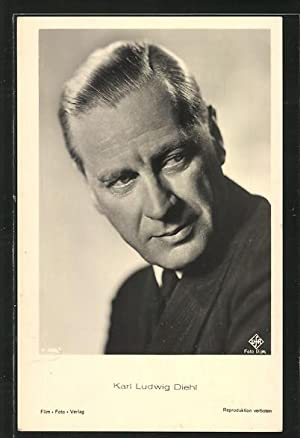 Ansichtskarte Schauspieler Karl Ludwig Diehl mit schwarzer