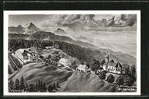Ansichtskarte Siegsdorf, Ansicht des Wallfahrtsortes Maria Eck
