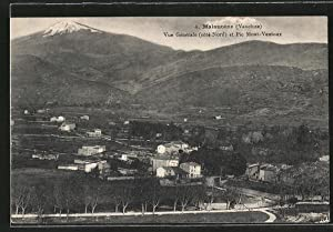 Carte postale Malaucene, Vue generale et Pic