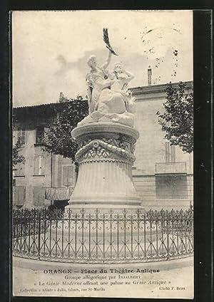 Carte postale Orange, Place du Theatre Antique,