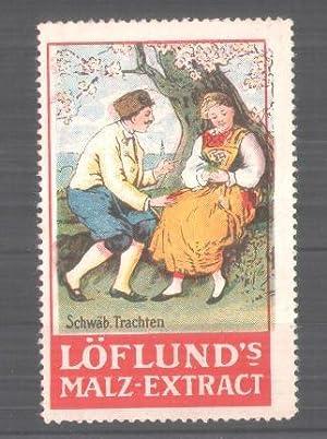 Reklamemarke Löflunds-Malz-Extrakt, Serie: Schwäbische Trachten, Mann und