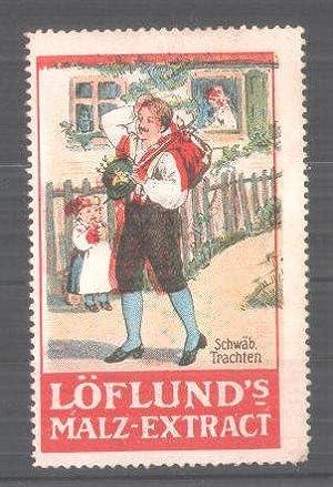 Reklamemarke Löflund's Malz-Extrakt, Serie: Schwäbische Trachten, Mann