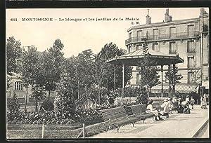 Carte postale Montrouge, Le Kiosque et les