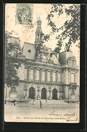 Carte postale Neuilly-sur-Seine, l'Hôtel de Ville, vue