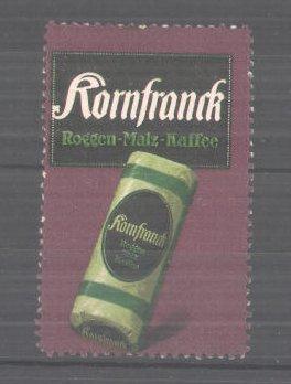 Künstler-Reklamemarke Ludwig Hohlwein, Kornfranck-Roggen-Malz-Kaffee, Packung Kaffee