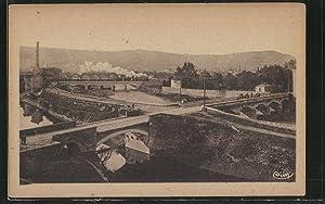 Carte postale Givors, vue des quatre ponts