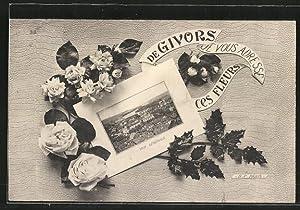 Carte postale Givors, vue générale dans un