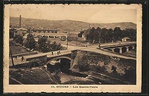 Carte postale Givors, les quatre ponts