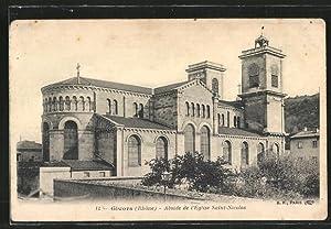 Carte postale Givors, l'abside de l'église Saint-Nicolas