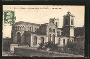 Carte postale Givors, Abside de l'Église Saint-Nicolas