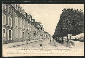 Carte postale Joigny, Quai de Paris (Vue
