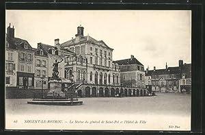 Carte postale Nogent-le-Rotrou, La Statue du général