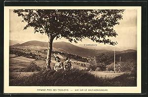Carte postale Les Trois-Epis, paysage avec le