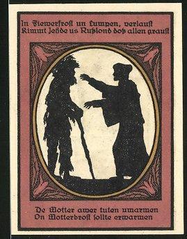 Notgeld Kalbsrieth 1921, 50 Pfennig, Kavalierhaus, Mönch