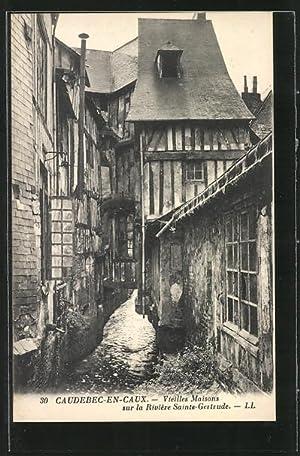 Carte postale Caudebec-en-Caux, Vieilles Maisons sur la