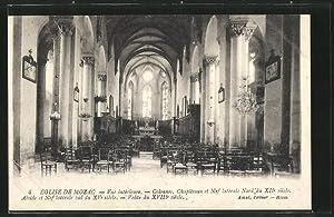 Carte postale Mozac, vue intérieure de l'église