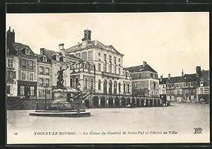 Carte postale Nogent-le-Rotrou, La Statue du General