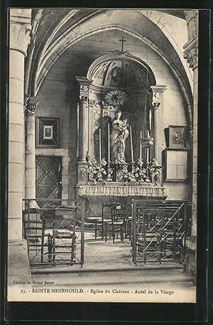 Carte postale Sainte-Ménehould, l'autel de la Vierge