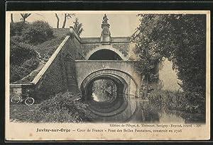 Carte postale Juvisy-sur-Orge, Cour de France, Pont
