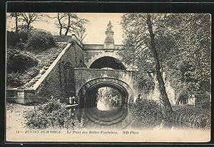 Carte postale Juvisy-sur-Orge, Le Pont des Belles-Fontaines