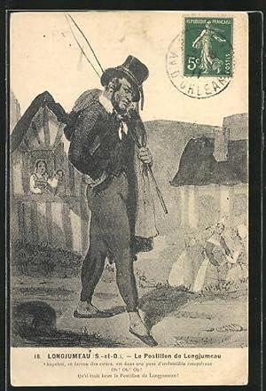Carte postale Longjumeau, Le Postillon