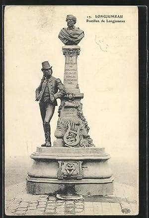 Carte postale Longjumeau, Postillon