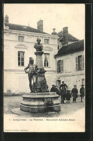 Carte postale Longjumeau, Le Postillon, Monument Adolphe