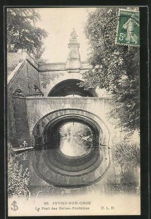 Carte postale Juvisy-sur-Orge, le pont des Belles