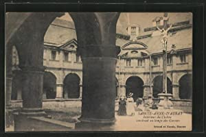 Carte postale Sainte-Anne-d'Auray, Interieur du Cloitre construit