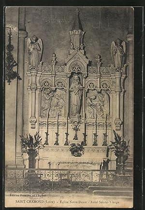 Carte postale Saint-Chamond, l'Eglise Notre-Dame, l'autel de