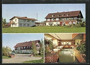 Ansichtskarte Lossburg, Cafe-Pension Zollernblick: Speisezimmer
