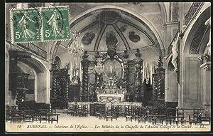 Carte postale Aubenas, l'intérieur de l'église, les
