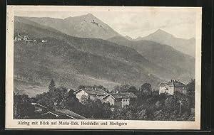 Ansichtskarte Alzing, Panorama mit Maria-Eck, Hochfelln und
