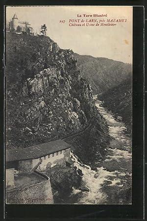 Carte postale Pont-de-Larn, Château et Usine de