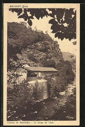 Carte postale Mazamet, Château de Montlédier, La