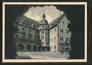 Ansichtskarte Weikersheim, Schlosshof mit Saalbau