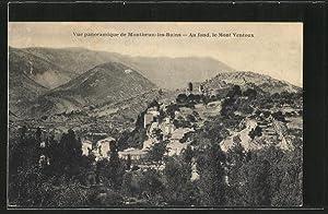 Carte postale Montbrun-les-Bains, au fond et le