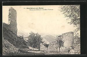 Carte postale Montbrun-les-Bains, Ruines du Château et