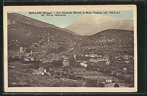 Carte postale Mollans, vue générale et Mont