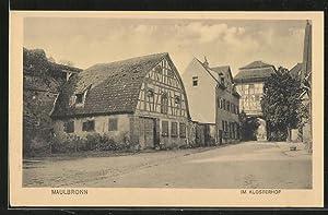Ansichtskarte Maulbronn, Partie im Klosterhof
