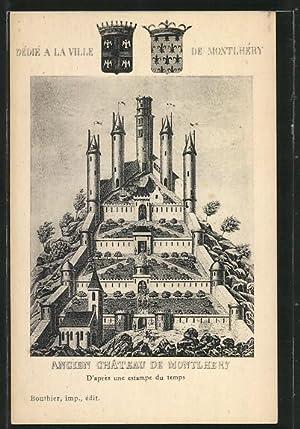 Carte postale Montlhery, Ancien Chateau, d'apres une