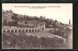 Carte postale Les Halles, le parc du