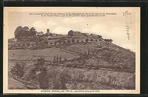Carte postale Riverie, vue du sommet où