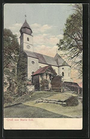 Ansichtskarte Siegsdorf, Partie bei Maria Eck