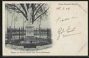 Carte postale Alise-Sainte-Reine, Statue de Sainte Reine