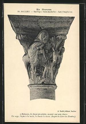 Carte postale Saulieu, Basilique Saint-Andoche, les Chapiteaux