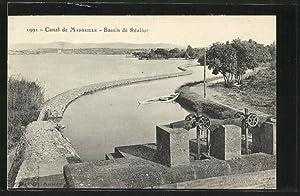 Carte postale Realtor, Le Bassin, Canal de
