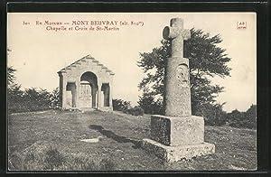 Carte postale Mont Beuvray, Chapelle et Croix